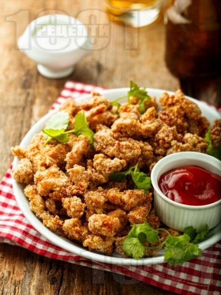 Панирани нисковъглехидратни (кето) пилешки хапки - снимка на рецептата
